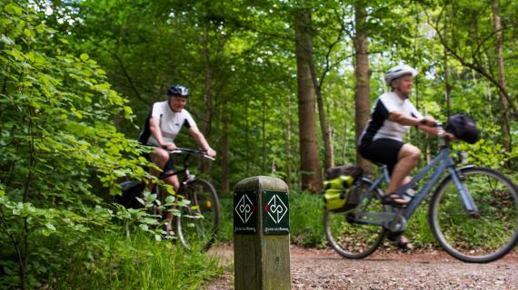 Cyklister på RudersdalRuten
