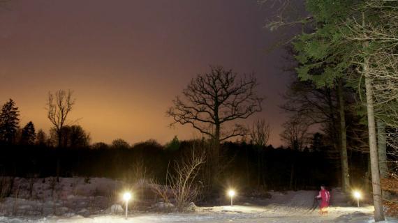 Lysløjpen en vinteraften