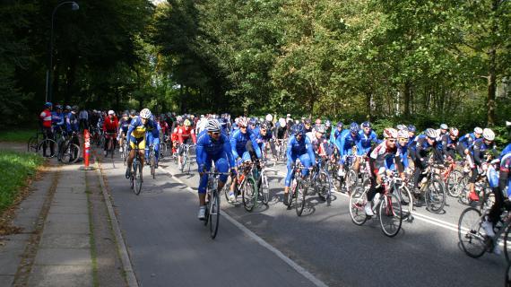 Motionscyklister på VM TræningsRuten