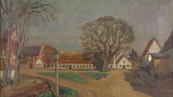 Majpladsen år 1900 Maleri af Axel Bredsdorff Foto: Ole Tage Hartmann
