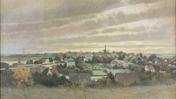 Birkerød 1926 Maleri af Carl Wennemoes