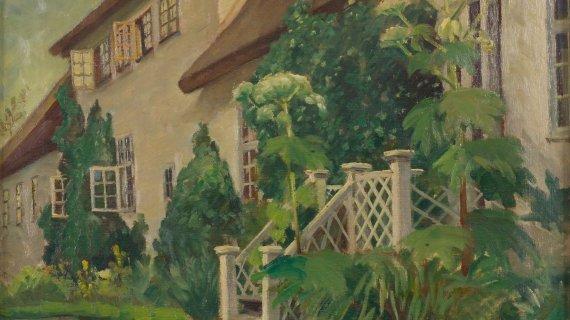 Birkerød Gl. Præstegaard 1925. Maleri af Edmond Petersen. Foto: Ole Tage Hartmann