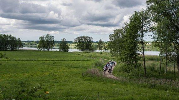 Foto: Sjælsø - cyklister på tur