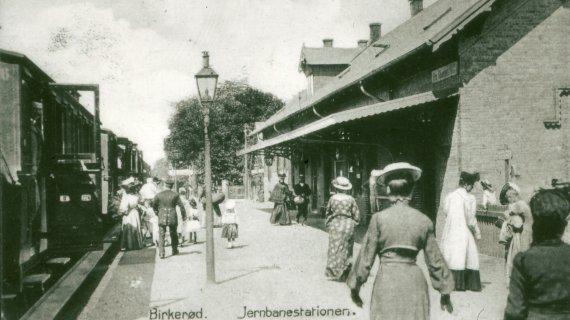 Birkerød Jernbanestation - udateret Foto: Historisk arkiv for Rudersdal Kommune