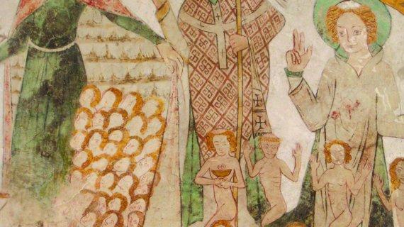 Kalkmaleri i Birkerød Kirke 2