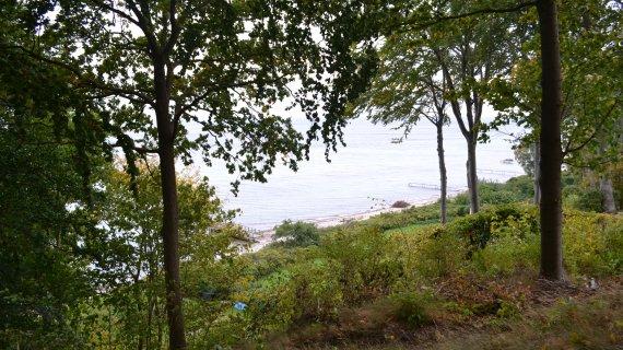 Foto. Lokes høj - udsigt mod stranden
