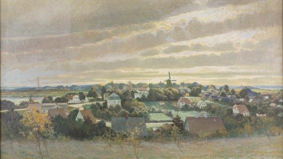 Carl Wennemoes 'Udsigt over Birkerød fra Høbjerg 1926