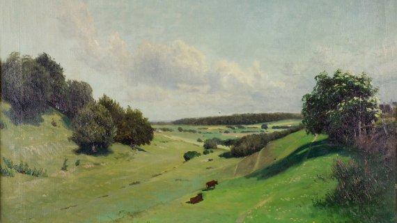 Maleri: Udsigt fra Høje Sandbjerg, Fritz Stær-Olsen