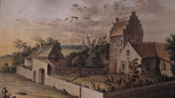 Maleri: Søllerød Kirke og Kirkegård