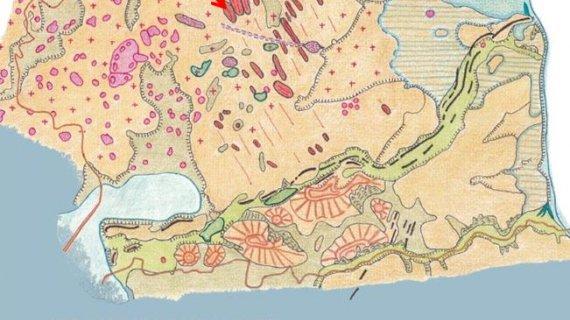 Maglebjerg landskabskort