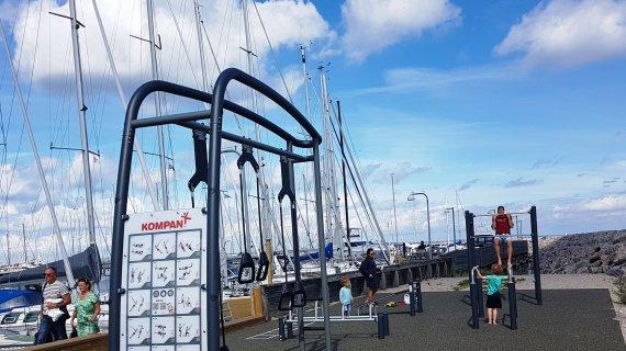Vedbæk Havn - fitnessplads på sydstranden