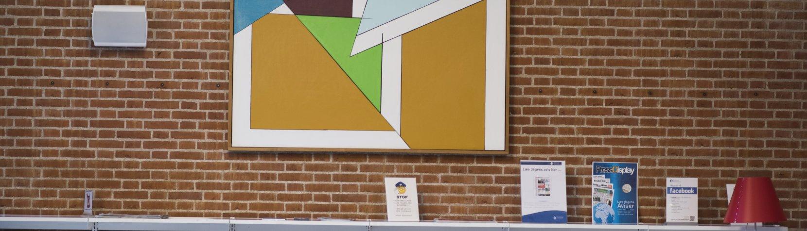 Foto: Kunst på Birkerød Bibliotek