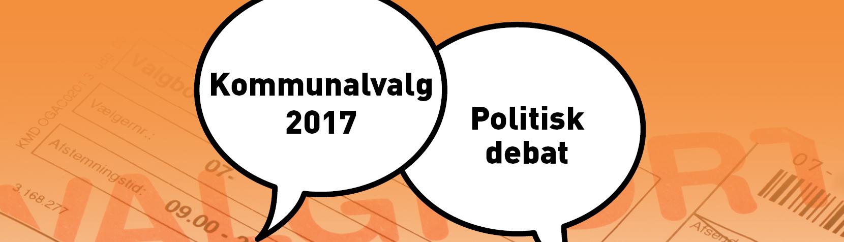 Foto: Valg - lokal politiskdebat