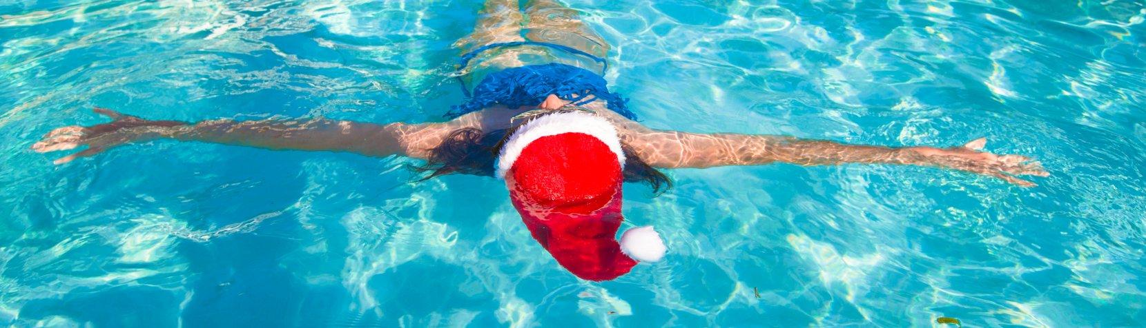 foto: Jul i svømmehallen