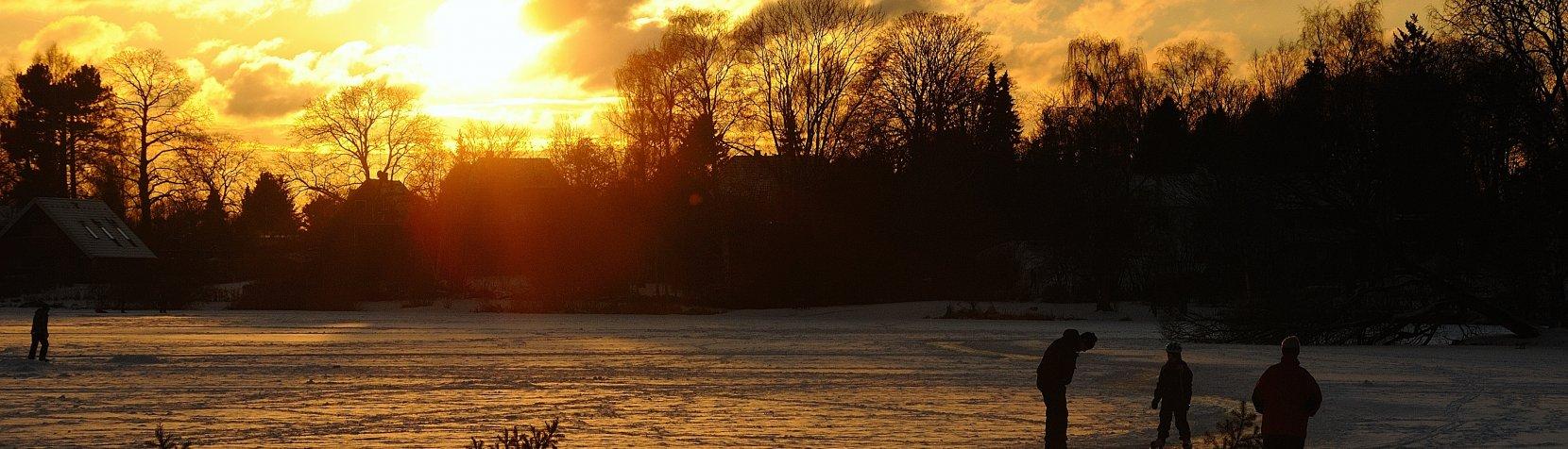Birkerød Sø - en vinteraften - foto: Jess Kimmerslev