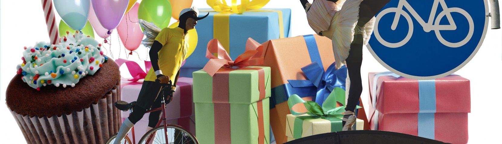 Kom til fødselsdag på Cykelmyggens fødselsdag.