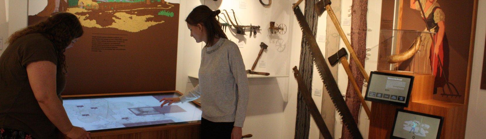 Den permanente udstilling på Mothsgården