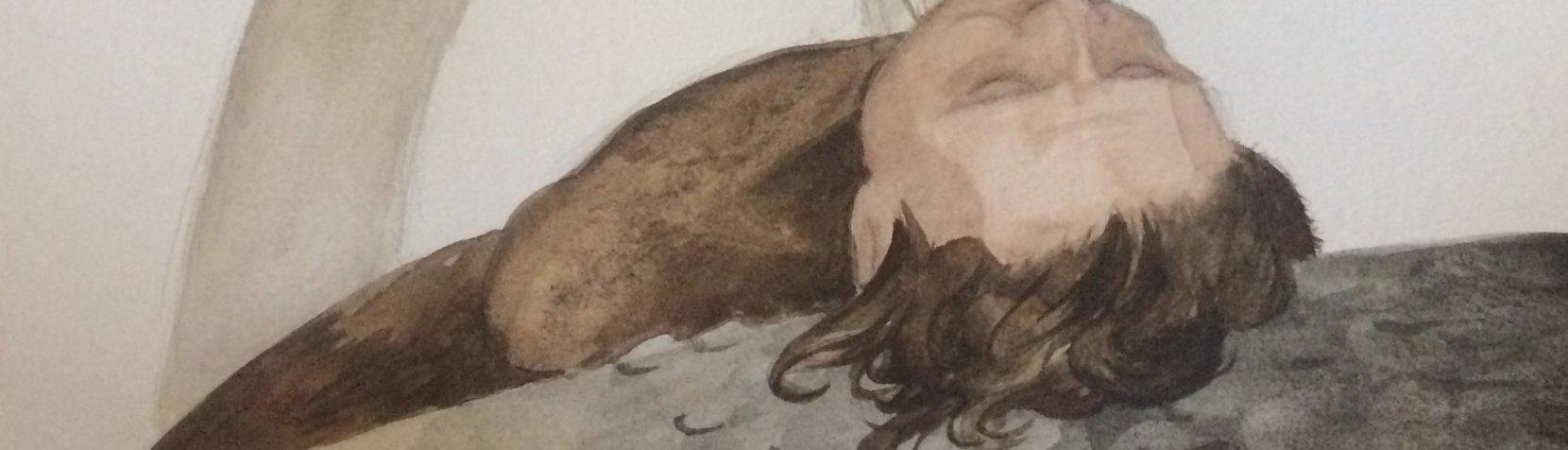 Tegning: Død mand