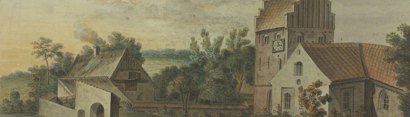 Søllerød Kirke ca. år 1800