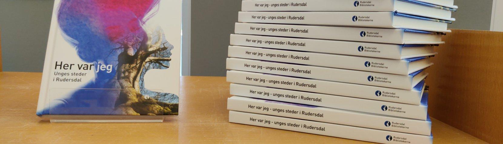 Eksemplarer af bogen HER VAR JEG