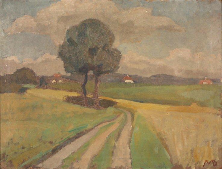Slugten mod Ravnsnæs 1914 Maleri af Majsa Bredsdorff