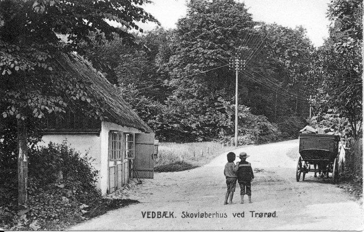 Skovløberhus ved Trørød ca. 1910