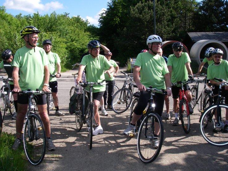 Foto: Ældre herre på cykeltur