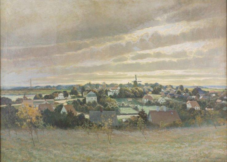 Carl Wennemoes værk 'Teglværkerne i Birkerød'