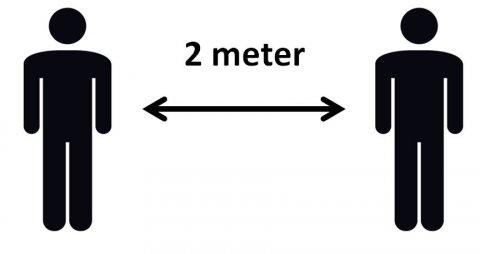 Hold afstand - 2 meter mellem alle