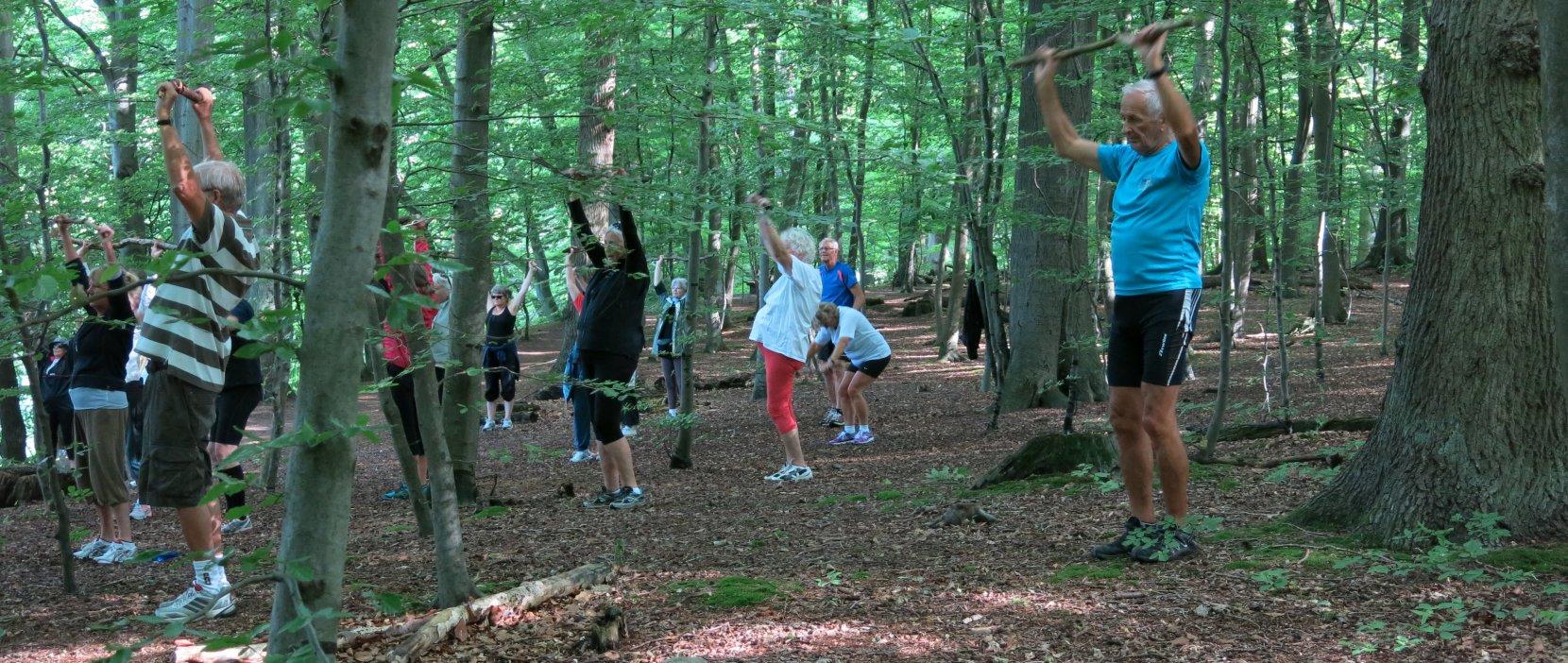 Grøn Puls motion i det fri